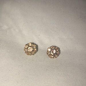 LC Lauren Conrad rose gold studs
